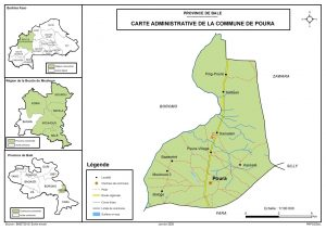 situation géographique de la commune de poura